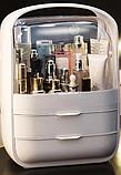 Органайзер для косметики на 3 секции W-40 настольный Белый   Кейс для косметики Бьюти Бокс, фото 2