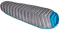 Прочный спальный мешок Sir Joseph Attack II 400/190/+4°C Grey/Blue (Left) 922278 серый
