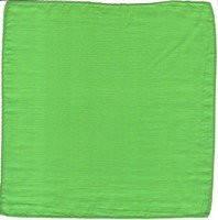 Реквизит для фокусов | Шёлковый зелёный платок (45*45см)