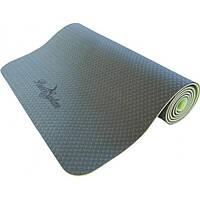 Коврик для йоги и фитнеса Power System Yoga Mat Premium PS-4060 Green