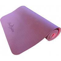 Коврик для йоги и фитнеса Power System Yoga Mat Premium PS-4060 Purple