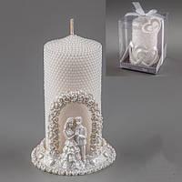 """Декоративные свечи 13 см с подставкой """"Молодожены"""""""