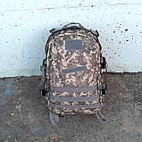 Тактический, походный рюкзак Military. 30 L. Серый пиксель, милитари., фото 3