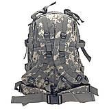 Тактический, походный рюкзак Military. 30 L. Серый пиксель, милитари., фото 6