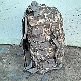 Тактический, походный рюкзак Military. 30 L. Серый пиксель, милитари., фото 10