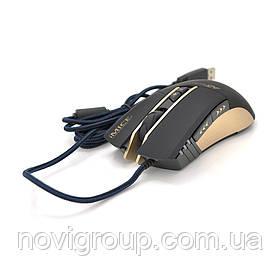 Миша дротова Apedra A5, 7 кнопок, 800/1200/2400/3200 DPI, Led Lighting, 1,3 м, Win7 / 8/10 Mac OS, Black, COLOR BOX, Q40