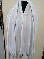 Мех шкуры норки, цвет жемчуг перл pearl длина 65 см