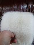 Мех шкуры норки, цвет жемчуг перл pearl длина 65 см, фото 2