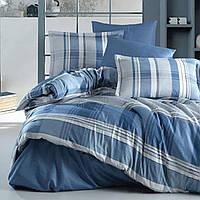 Комплект постельного белья Сатин Clasy Palomar V2, Синий, Евро, 200х220, 240х260, 50х70-4 шт