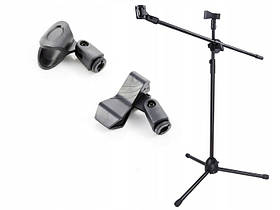 Профессиональная микрофонная стойка журавль BNK BK200 ( на 2 микрофона)