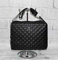 Сумка шкіряна чоловіча чорна, планшет Louis Vuitton 808-3