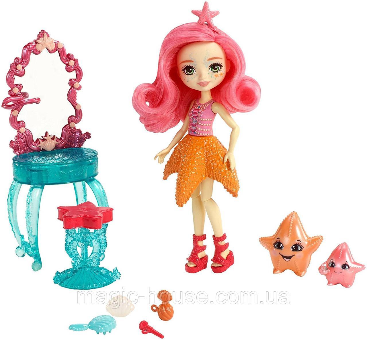 Кукла Энчантималс Морская Звезда Старлинг и морские звездочки Идиль  Enchantimals Starling Starfish Dolls