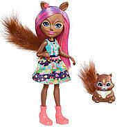 Кукла Энчантималс Белка Санча и бельченок Стампер Enchantimals Sancha Squirrel Doll & Stumper, фото 3