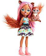 Кукла Энчантималс Белка Санча и бельченок Стампер Enchantimals Sancha Squirrel Doll & Stumper, фото 4