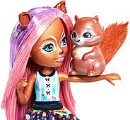 Кукла Энчантималс Белка Санча и бельченок Стампер Enchantimals Sancha Squirrel Doll & Stumper, фото 5