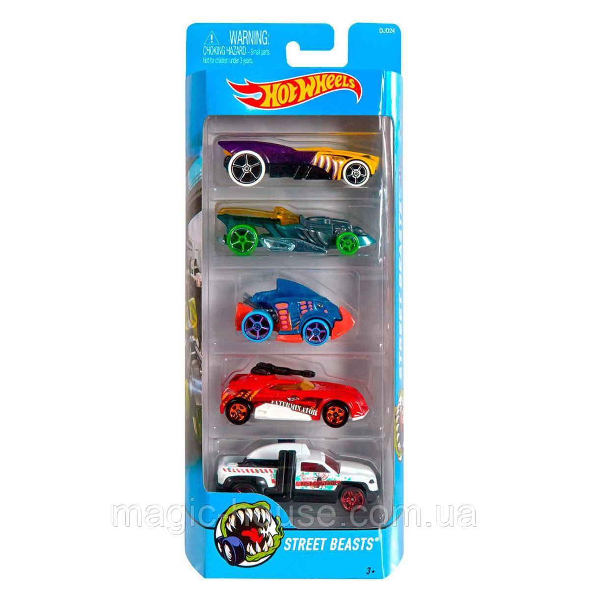 Хот Вілс Набір з 5 машинок Hot Wheels Street Beasts 5 Car Pack