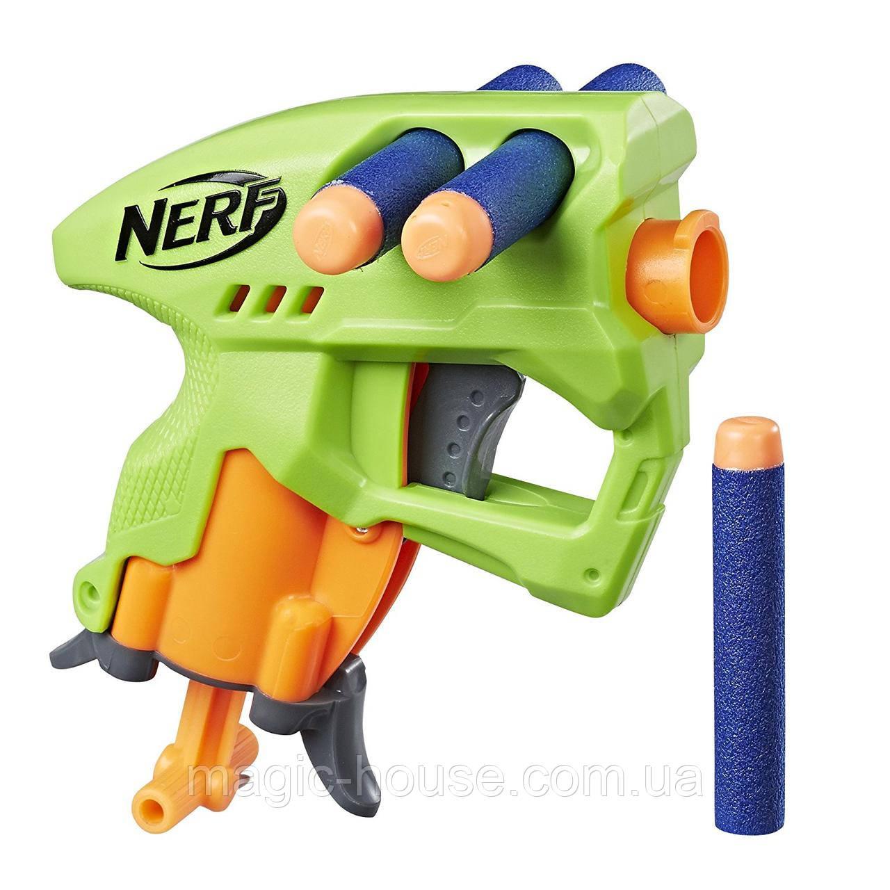 Бластер Нерф Нано Фаер (Салатовый) Nerf N-Strike NanoFire(green)