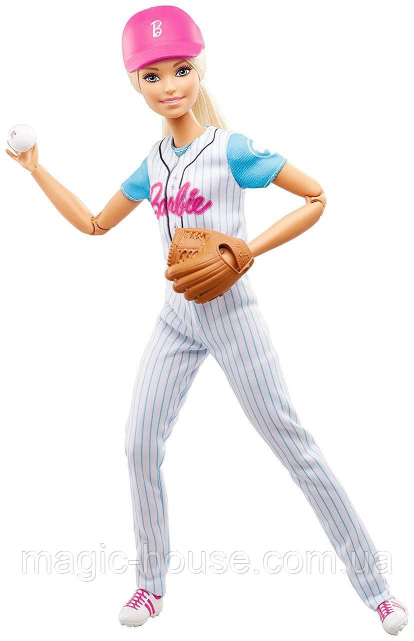 Уцінка!! Пошкоджена упаковка.Лялька Barbie Бейсболістка Безмежні руху