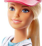 Уцінка!! Пошкоджена упаковка.Лялька Barbie Бейсболістка Безмежні руху, фото 5