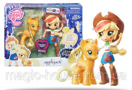 Набір My Little Pony Епл Джек лялечка і поні Elements of Friendship Applejack Pony and Doll