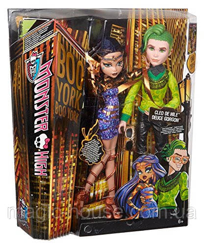 Набор Monster High Дьюс Горгон и Клео де Нил Бу Йорк Boo York Cleo de Nile and Deuce Gorgon