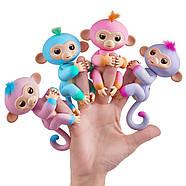 Оригінальна інтерактивна ручна мавпочка двоколірна Чарлі Блакитна Fingerlings 2Tone Monkey Charlie, фото 5