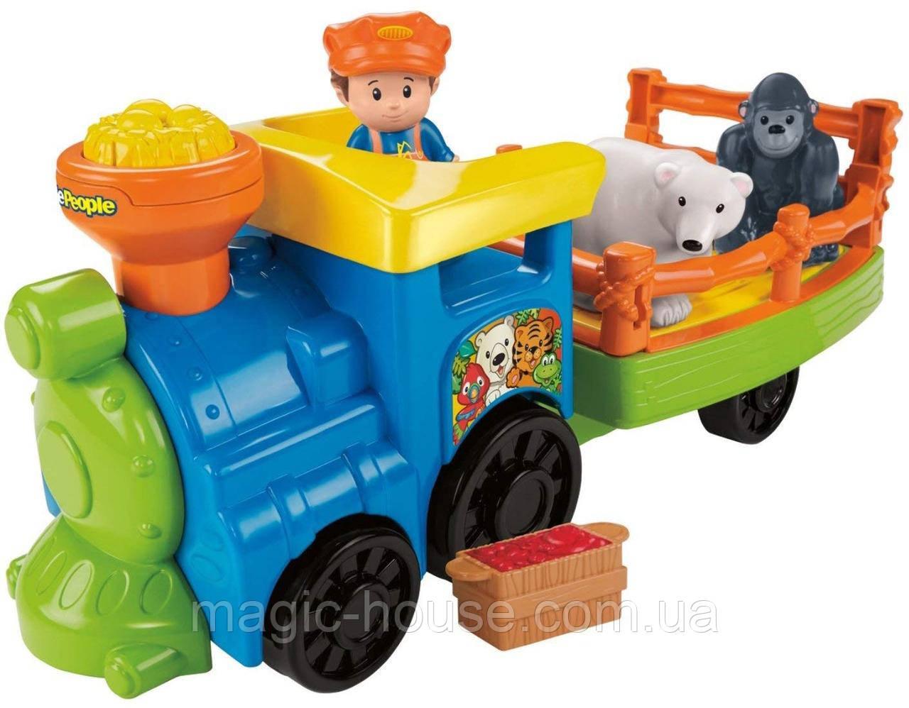Музичний паровозик зоопарк Fisher Price Little People Choo-Choo Zoo Train