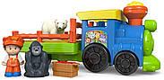 Музыкальный паровозик зоопарк Fisher Price Little People Choo-Choo Zoo Train, фото 4