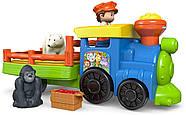 Музичний паровозик зоопарк Fisher Price Little People Choo-Choo Zoo Train, фото 5