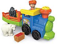 Музичний паровозик зоопарк Fisher Price Little People Choo-Choo Zoo Train, фото 7