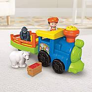 Музичний паровозик зоопарк Fisher Price Little People Choo-Choo Zoo Train, фото 9