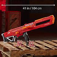 Бластер Нерф мега Тандерхок Комбат Thunderhawk Nerf AccuStrike Mega Toy Blaster E0403, фото 7