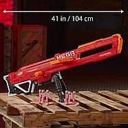 Бластер Нерф мега Тандерхок Комбат Thunderhawk Nerf AccuStrike Mega Toy Blaster E0403, фото 9