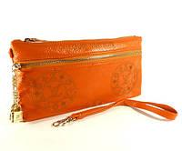 Кошелек-клатч кожаный LOUIS VUITTON 1870 оранжевый, расцветки в наличии