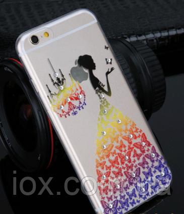Силиконовый чехол Платье разноцветное для Iphone 6