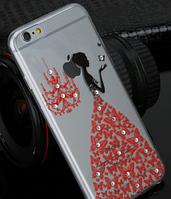 Силиконовый чехол Платье красное для Iphone 6