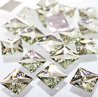 Пришивные стразы 16х16(синтетич.стекло).Форма квадрат .Цвет Crystal .Цена за 1шт