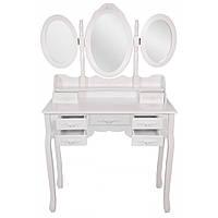 Туалетний столик Bonro- B020, сіра табуретка