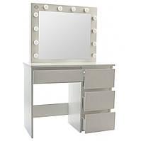 Столик косметичний Bonro- B071 білий з LED підсвічуванням