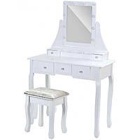 Столик косметический с табуреткой и лампочками Bonro- В-065L