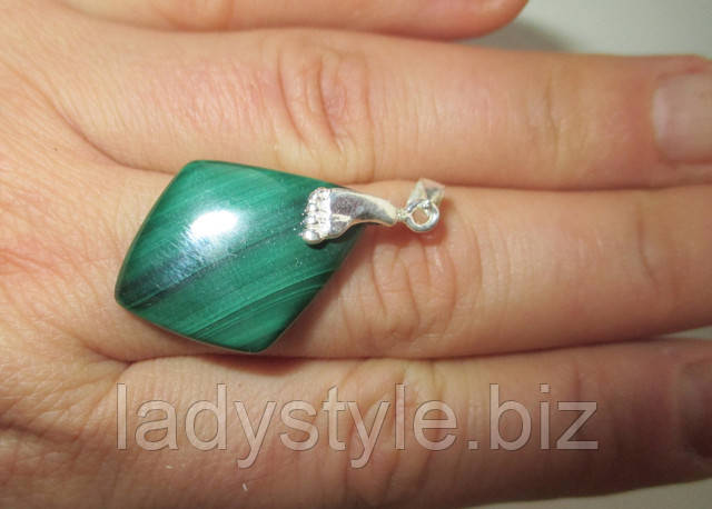 серебро кулон подвеска купить украшения сапфир звезда подарок юбилей признание в любви малахит натуральный