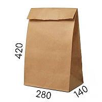 Крафт пакет без ручек - 280 × 140 × 420 мм