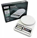 Весы кухонные электронные на батарейках до 10 кг Kitchen SF-400, фото 3