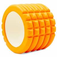 Роллер для йоги і пілатесу Grid Roller Mini FI-5716 10см кольори в асорт., Помаранчевий