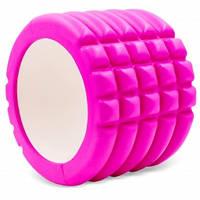 Роллер для йоги і пілатесу Grid Roller Mini FI-5716 10см кольори в асорт., Рожевий