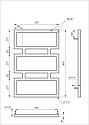 Полотенцесушитель Genesis-Aqua Quattro 80x53 см, фото 2