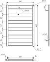 Полотенцесушитель Genesis-Aqua Bull 80x53 см, фото 2
