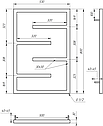 Полотенцесушитель Genesis-Aqua Infinite 80x53 см, фото 2