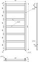 Полотенцесушитель Genesis-Aqua Minimal 120x53 см, фото 2