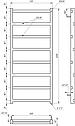 Полотенцесушитель Genesis-Aqua Level 120x53 см, фото 2
